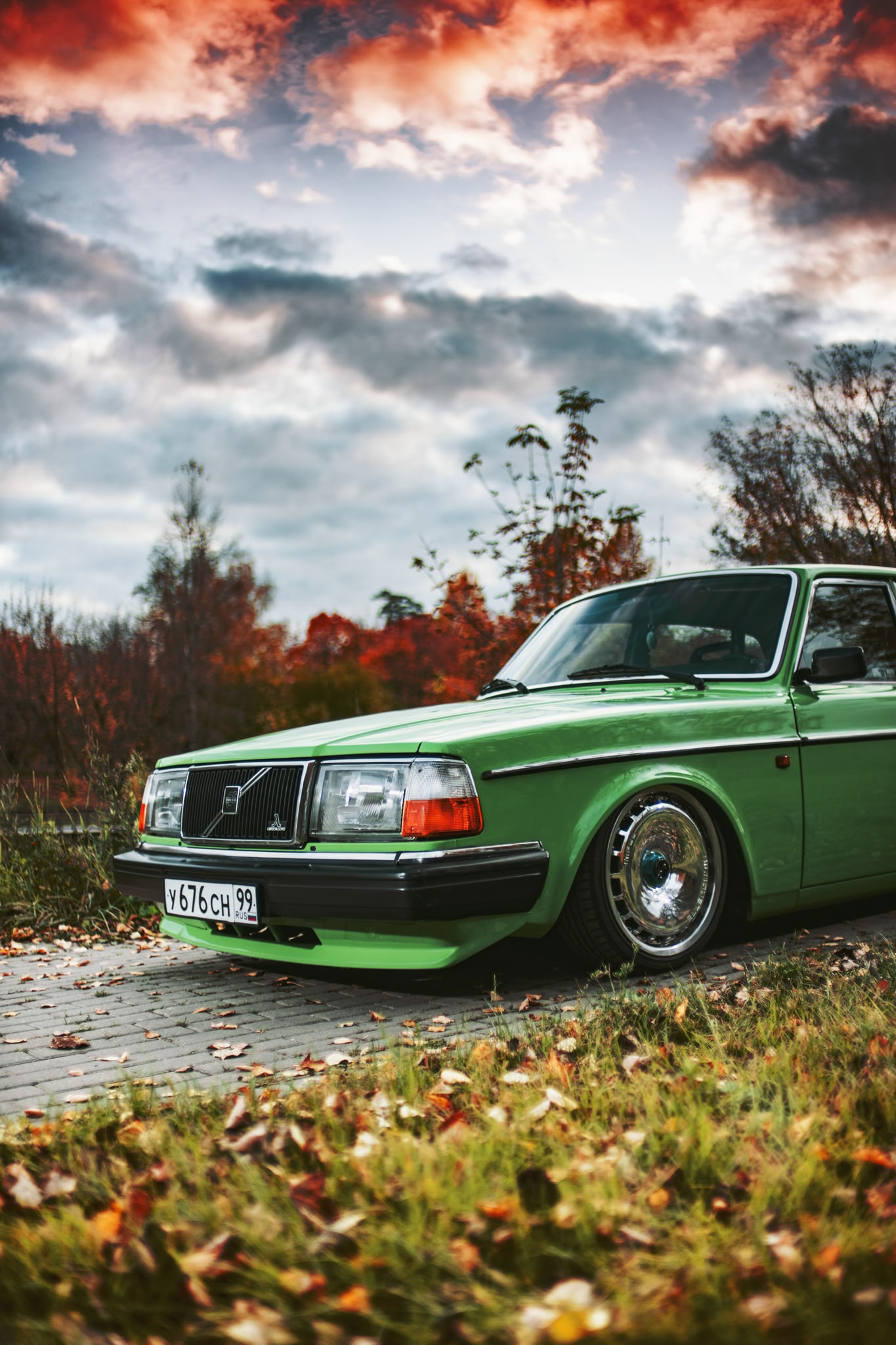 bagged volvo 240