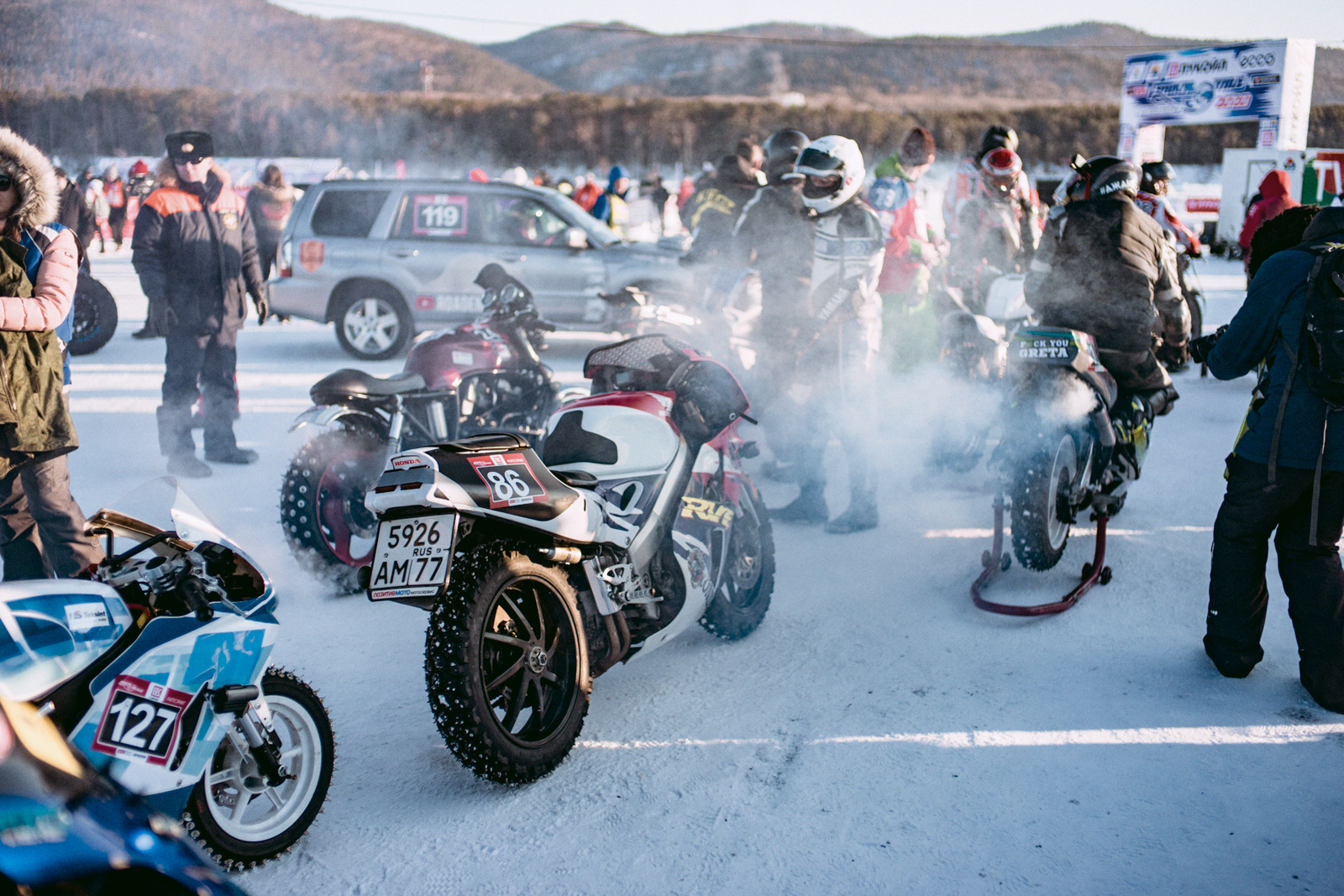 Мотоциклы на Baikal Mile